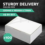 100x A5 Mailing Box 220x160x77mm 2.71 Litres Volume White Cardboard $26.90 Shipped @ Ozplaza Living eBay