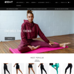 ECHT Fitness Clothing, 20% off Everything Including Outlet @ ECHT