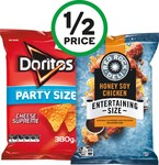 Doritos, Smith's or Red Rock Deli Big Bags 290-380g $3.50 (1/2 Price) @ Woolworths