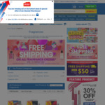 Free Delivery on Fragrances at Chemist Warehouse