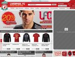 Liverpool Football Club - 20% off Everything This Weekend + Delivery Is £15.00