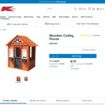 Wooden Cubby House $149 + Shipping or C&C (Was $197) @ Kmart