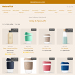 Eco Friendly Products - Coffee Cup & Water Bottles - up to 36% off @ Nature Tick