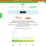 Win a Dog Treat and Photo Session Valued at $650 from WAG