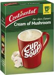 Continental Cup-a-Soup Classic Cream of Mushroom 4 Pack 70G $2 + Delivery ($0 with Prime/ $39 Spend) @ Amazon AU