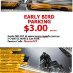 [QLD] Novotel Hotel Car Park - $3/Day Early Bird Parking @ Care Park