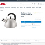 Stainless Steel Stove Top Kettle (Suitable for Induction Cooktop) $10 + Delivery (Free C&C over $20) @ Kmart
