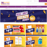 10% off Sitewide @ Discount Drug Stores Online - Free Postage over $89 / Free Click and Collect
