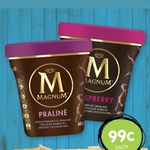 [WA] $0.99 Magnum Tubs 440ml Praline and Raspberry Flavours @ Spud Shed