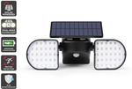 Solar Powered Motion Sensor Dual Head LED Flood Light (2000mAh) $36 Delivered @ Kogan