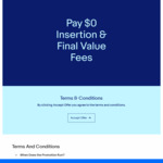 Pay $0 Insertion & Final Value Fees for 1 Item on eBay