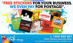 100 Stickers - Free (Including Delivery) from Martin Print - Business Use Only