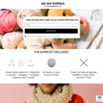 Win 1 of 3 Super Knitting Kits Worth $500 from We Are Knitters
