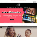 50% off Sitewide Including Sale Items ($7 Shipping/Free with $40 Order) @ e.l.f. Cosmetics