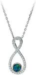 925 Sterling Silver Triplet Opal INFINITY Necklace $99 (Save $160) + $10 Delivery (Free over $100 Spend) @ Wellington Jeweller