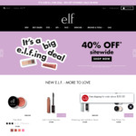 40% Off Sitewide (Excluding Clearance, Free Shipping with $50 Spend) @ e.l.f. Cosmetics
