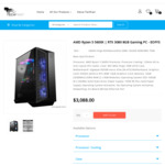 R5-5600X RTX 3080 Gaming PC w B550M Aorus Elite MB, 500GB NVME SSD, 16GB RAM, 750W PSU $2888 + Post @ TechFast [Jul Ship]