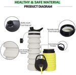 Collapsible Silicone Water Bottle 800ml $9.50 + Delivery ($0 with Prime/ $39 Spend) @ SY Direct via Amazon AU