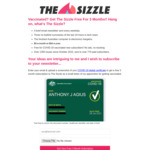 Free 3 Month Subscription To The Sizzle For COVID-19 Vaccinated