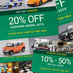 20% off All AOSHIMA Model Kits, 10%-50% off All LEGO @ Hobbyco - $9.50 Delivery ($0 with $99 Spend)