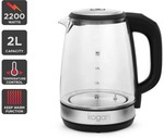 Kogan 2L Cordless Glass Kettle with Temp Control 2200W $39.99 + Delivery ($29.99 Delivered with Kogan First) @ Kogan
