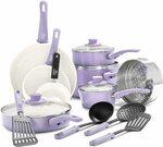 GreenLife Soft Grip Healthy Ceramic Nonstick, Cookware Pots and Pans Set, 16 Piece, Lavender $132.24 Delivered @ Amazon AU