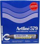 [Back Order] Artline 579 Whiteboard Marker, Chisel Nib, 2-5mm Widths Blue 12-Pack $3.95 + Del ($0 Prime/ $39 Spend) @ Amazon AU