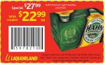 24 x 375ml Hahn Premium Light Stubbies for $22.99 @ Coles/Liquorland