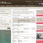 FIJI Airway SYD to Los Angeles (via Nadi Fiji) $1095 Return