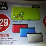 New 3DS XL Console (Yoshi Island/Red/Silver/Blue) $229 (Save $19) @ Target 15th March