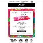 Kiehl's 15% Off Storewide at Chatswood Chase NSW (Today Only)