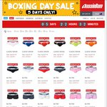 Aussiebum Boxing Day Sale - Underwear from $9.50, Swimwear from $15.95, Tops from $20.96 + More
