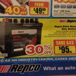 30% off Repco Extra Heavy Duty Batteries $95 Save $43