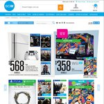 PS4 + 4 GAMES $568 ($511 after 10% off), Wii U Splatoon Bundle $322 (after 10% off) + More @ Big W
