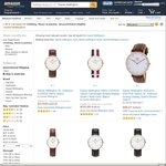 Around 50% off a Series of Daniel Wellington Watches on Amazon