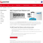 ANZ Frequent Flyer Platinum Card 50,000 Bonus Qantas FF Point [No Annual Fee for The First Year]