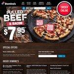 Dominos Any 3 Pizzas + Garlic Bread + 1.25L Drink $23.95 Pick-up