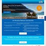 Citibank Rewards Platinum Card - 24 Month 0% BT (+ 1.5% BT Fee), $0 Annual Fee for First Year