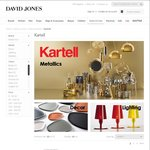 Save 30% on Kartell at David Jones Online & Complimentary Standard Delivery