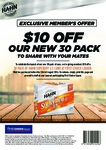 $10 off 30x Pack of Hahn SuperDry 3.5 (Now $40 with Voucher) @ First Choice Liquor
