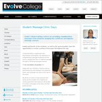 Free Massages by Students from Evolve College in WA, NSW, VIC and SA This December