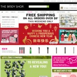Free Delivery On All Orders Over $8 Until Midnight 29th January @ The Body Shop Online (Save $8.95)