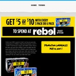 Claim a $5 or $10 Rebel Voucher When You Purchase a 3x250ml or 6x250ml Pack of UP&GO or Weet-Bix GO