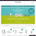 PANDORA: Spend $150 or More and Receive Earrings of Your Choice Valued up to $59 (Today Only - 10/06/17)