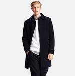 UNIQLO MEN - Wool Blend Single Coat $99.90 (Was $199.90), Cashmere Chesterfield Coat $149.90 (Was $249.90)