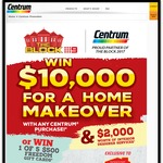 Win 1x $10,000 Home Makeover + $2000 Interior Designer Services, 5x $500 Freedom Gift Cards, Buy Centrum (Participating Stores)