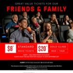 $8 Standard Movie & $20 Gold Class eVouchers (Monday to Thursday) - Event Cinemas [Minimum Purchase of 2 eVouchers]