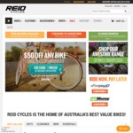 $50 off Full Priced Bikes at Reid Cycles until 15 August