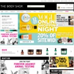 The Body Shop 20% off Site-Wide for 12 Hours until Midnight No Code Required