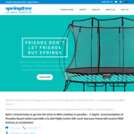 Springfree Trampoline FREE Delivery and Installation When Using Referral Code
